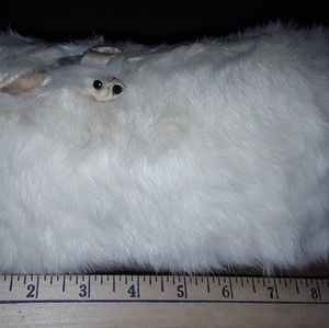 Vintage Childs Fur White Muff